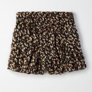 American Eagle Floral Skirty Short XS